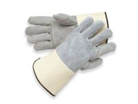 Radnor+ X-Large Side Split Leather Palm Gloves With Gauntlet Cuff, Full Leather Back And Double Leather On Palm, Fingers And Thu