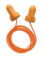 Radnor+ Single Use T-Shaped Orange Polyurethane And Foam Corded Earplugs