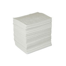 """Radnor� 15""""  X 17"""" Light Weight Oil Sorbent Pads Perforated At 7 1/2"""""""