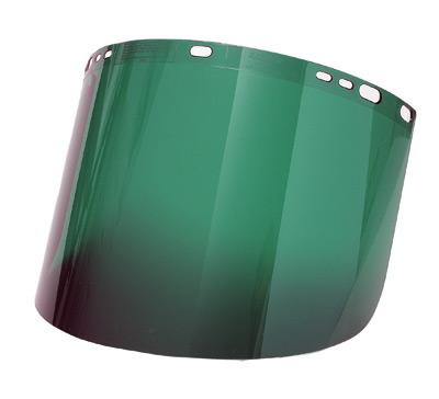 "Radnor� 8"" X 15 1/2"" X .060"" Green Shade 5 Polycarbonate Faceshield"