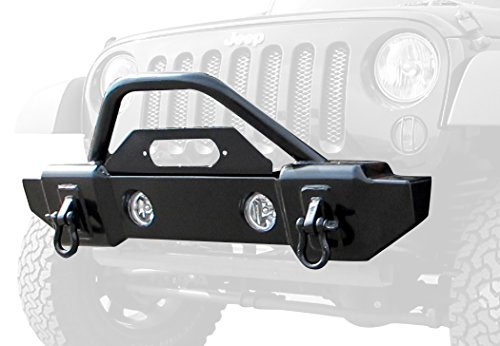Stubby Front Recovery Winch Mount Bumper with Stinger