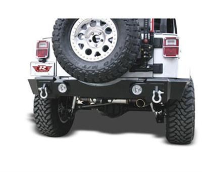 Recovery Rear Bumper with D-ring and Light Mounts