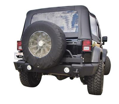Recovery Rear Bumper with Swing Away Tire Carrier