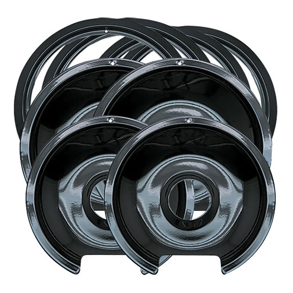 Drip Pan & Trim Ring Porcelain / Black 2 6