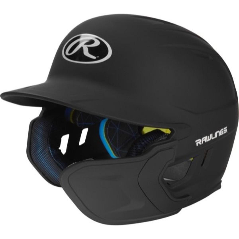 Rawlings Mach EXT Batting Helmet-Black-SR-RH