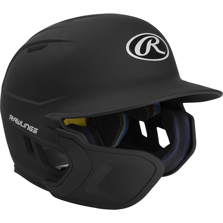 Rawlings Mach EXT Batting Helmet-Black-JR-LH