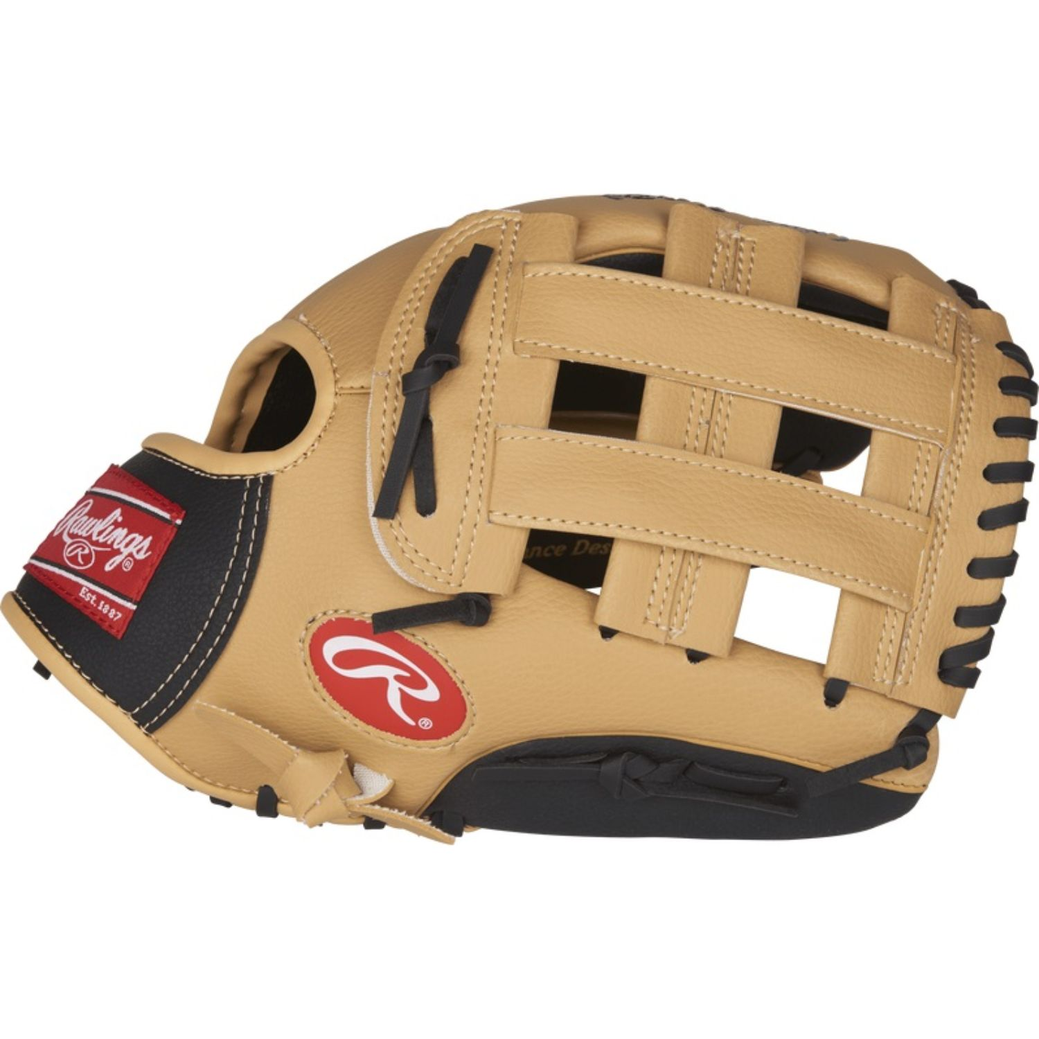 Rawlings Players 11.5 In Youth Baseball Softball Glove RH