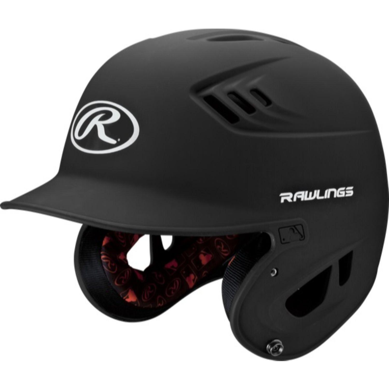Rawlings Velo Series Junior Batting Helmet Matte Black