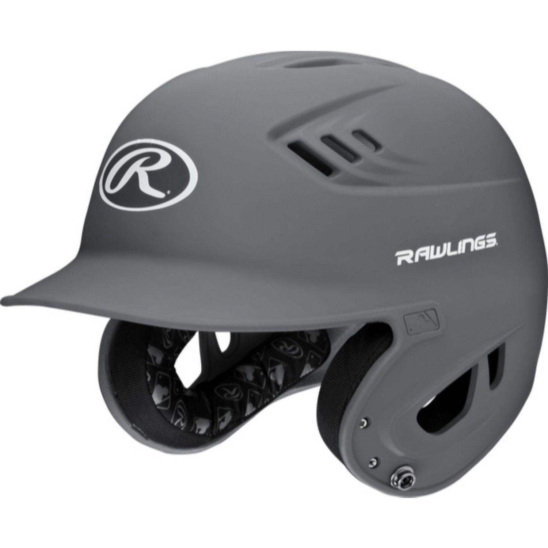Rawlings Velo Series Senior Batting Helmet Matte Graphite