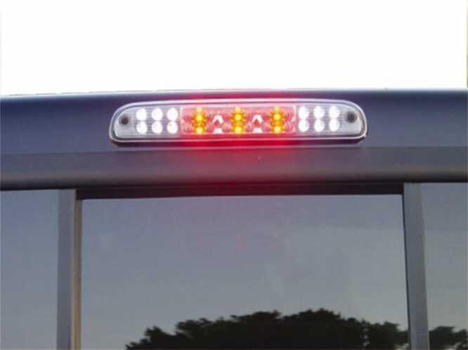 02-08 RAM LD/03-09 RAM HD RED LED 3RD BRAKE LIGHT KIT W/WHITE LED CARGO LIGHTS SMOKE LENS