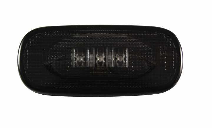 03-09 RAM DUALLY FENDER  LENSES (4PC) 2 RED/2 AMBER LED LIGHTS SMOKE LENS BLACK TRIM