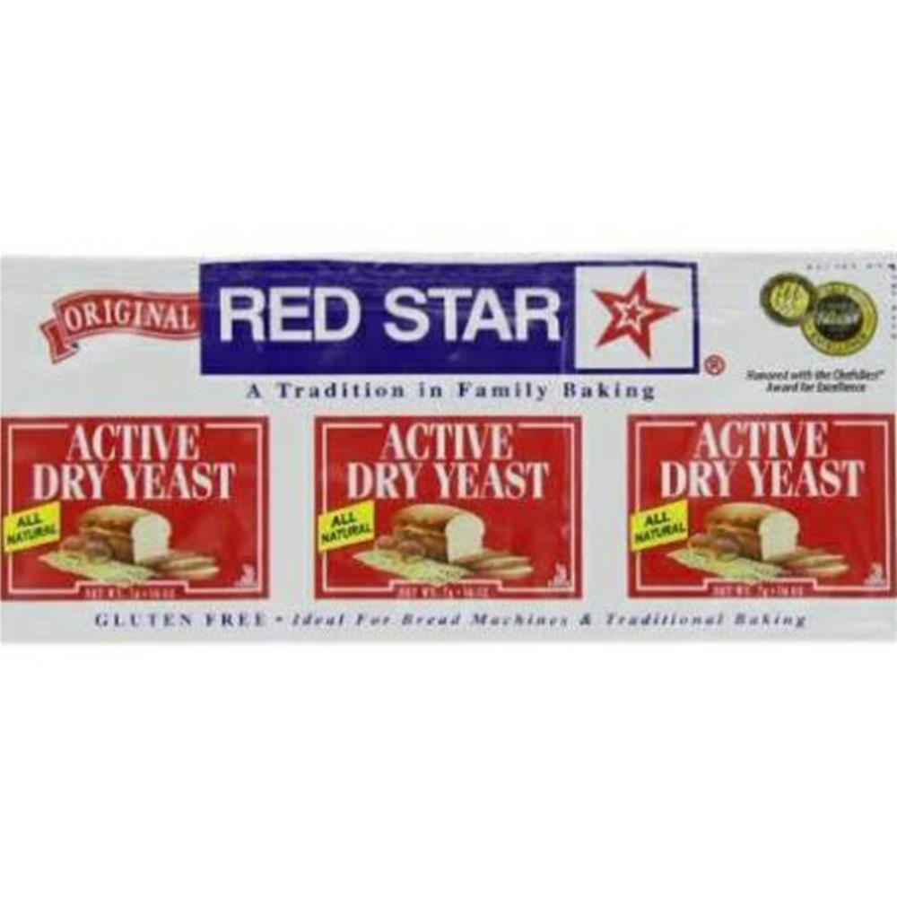 Red Star Nutritional Yeast - Active Dry Yeast Envelope ( 18 - .75 OZ)