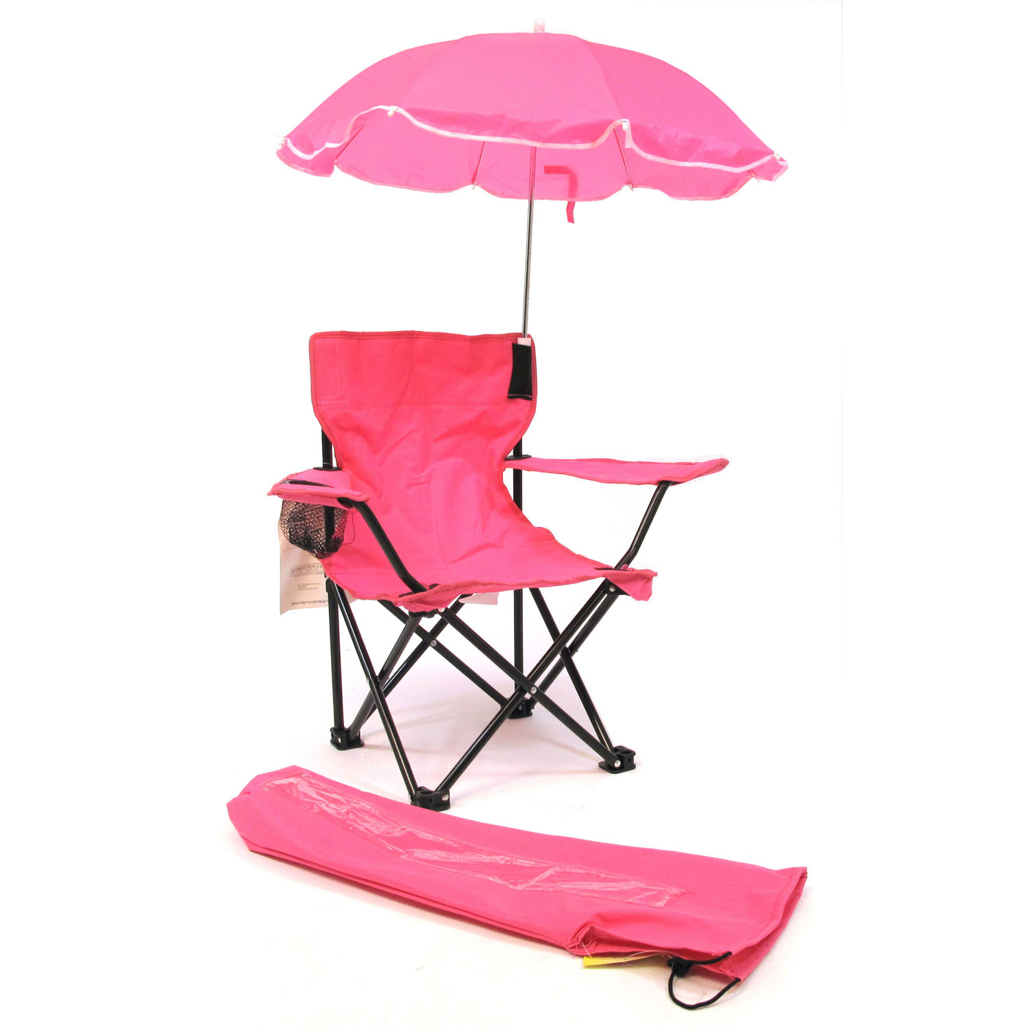 Beach Baby All-Season Umbrella Chair with Matching Shoulder Bag - Hot Pink