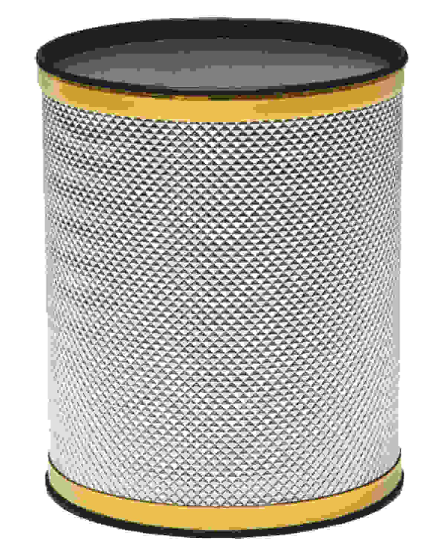 Redmon Bath Jewelry Diamond Pattern Round Vinyl Wastebasket