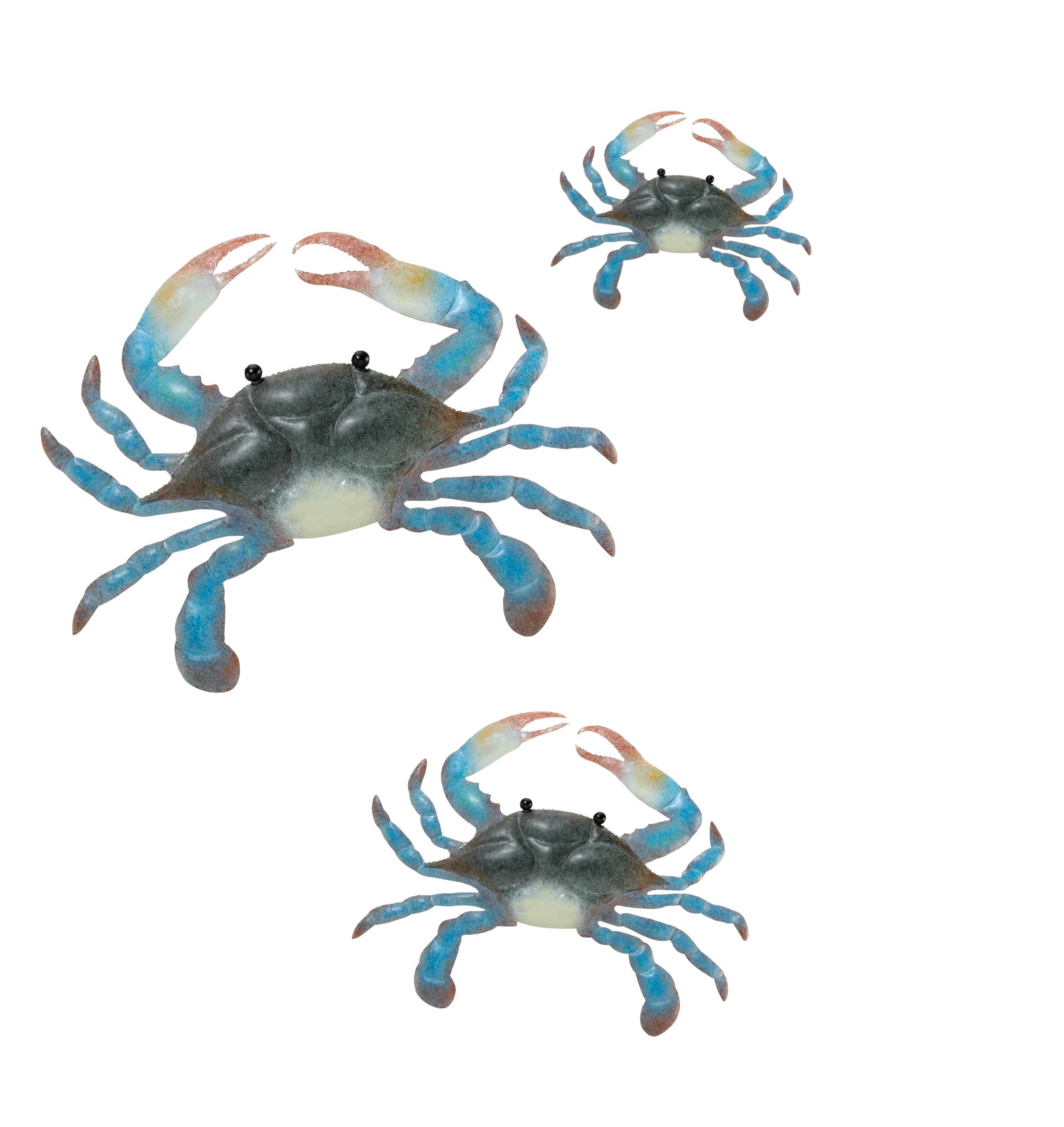Blue Crab Wall Decor - Set of 3