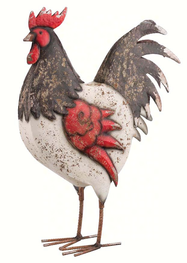 Country Rooster 17 inch Red White