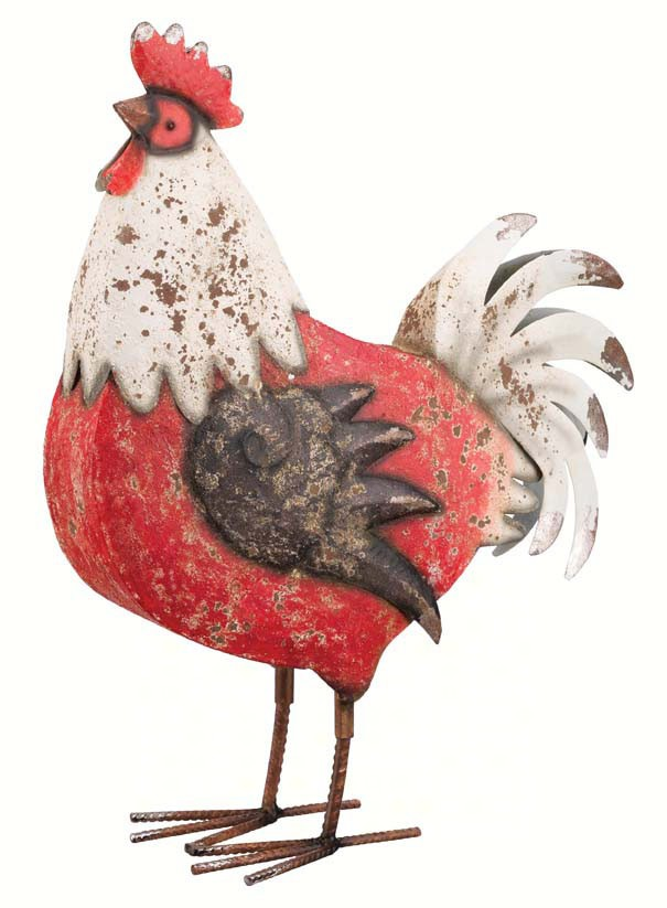 Country Rooster 18 inch Black/White