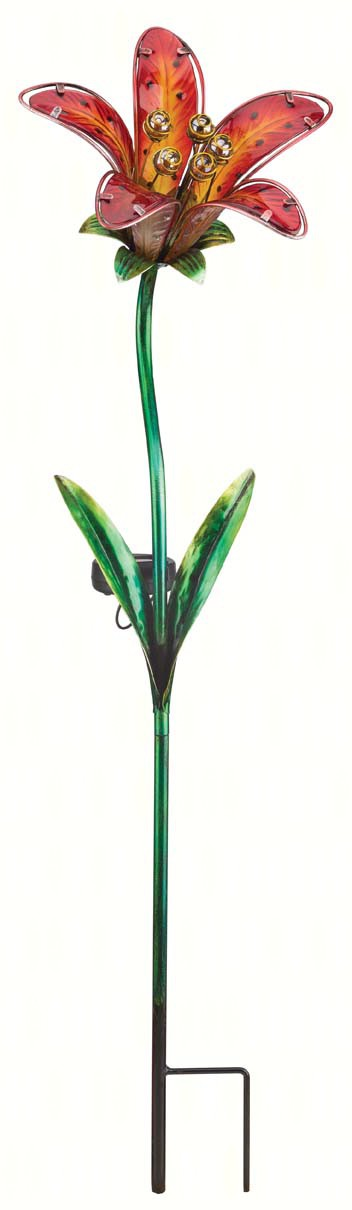 Solar Tiger Lily Stake Red