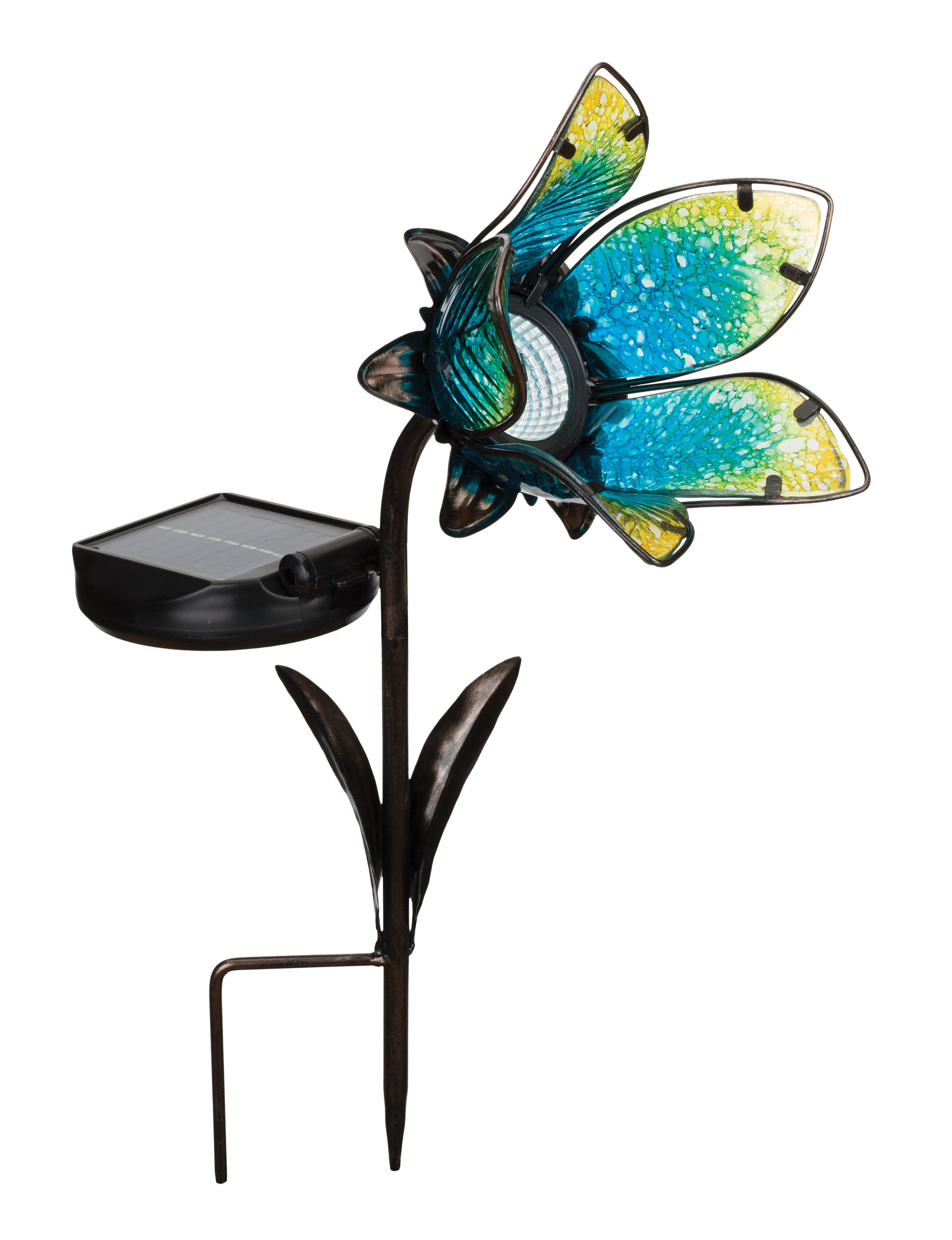 Blue Flower Solar Spot Light