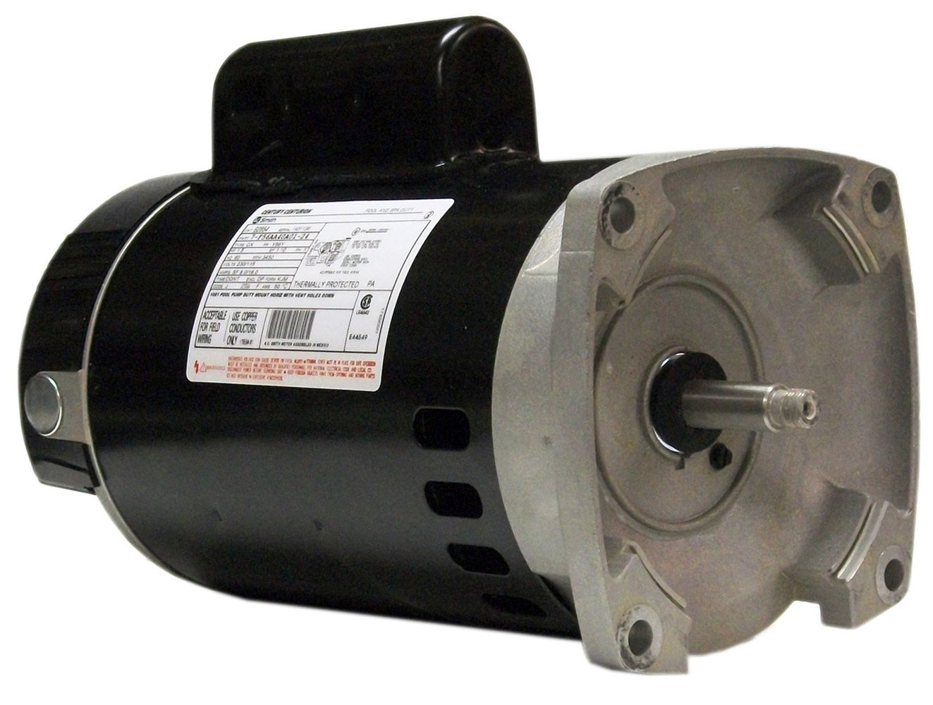 Motor, Square Flange, 56Y, Century, 1.5 HP, Up Rate, 115/230V
