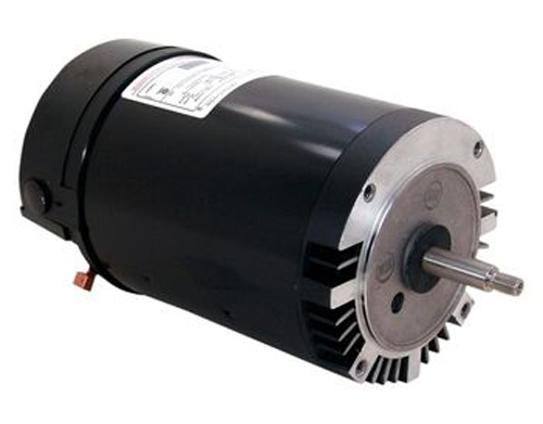 Motor, Threaded, 56J, AOS, 3-Phase, 1.5 HP, Full Rate, 208-230/460V