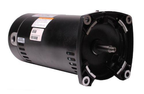 Motor, Square Flange, 48Y, AOS, 1.5 HP, Up Rate, 115/230V