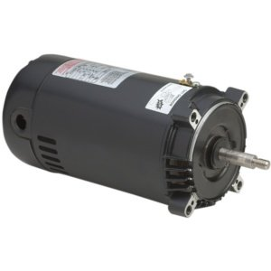 Motor, Threaded, 56J, AOS, 1.0 HP, Up Rate, 115/230V