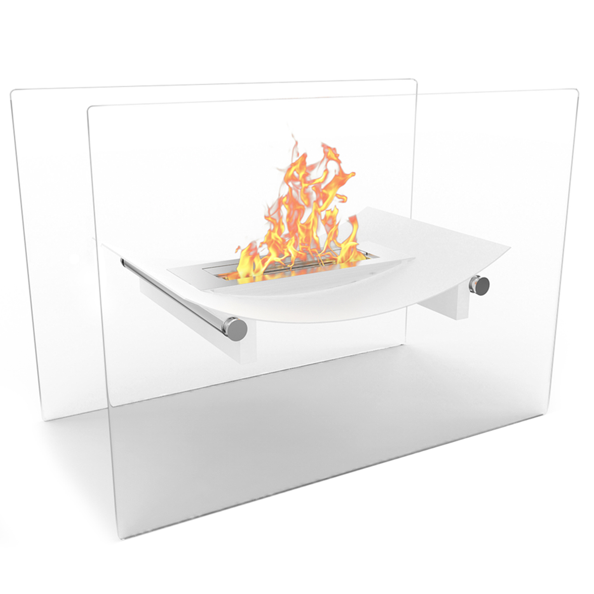 Regal Flame Black Bow Ventless Free Standing Bio Ethanol Fireplace Can Be Used as a Indoor, Outdoor, Gas Log Inserts, Vent Free,