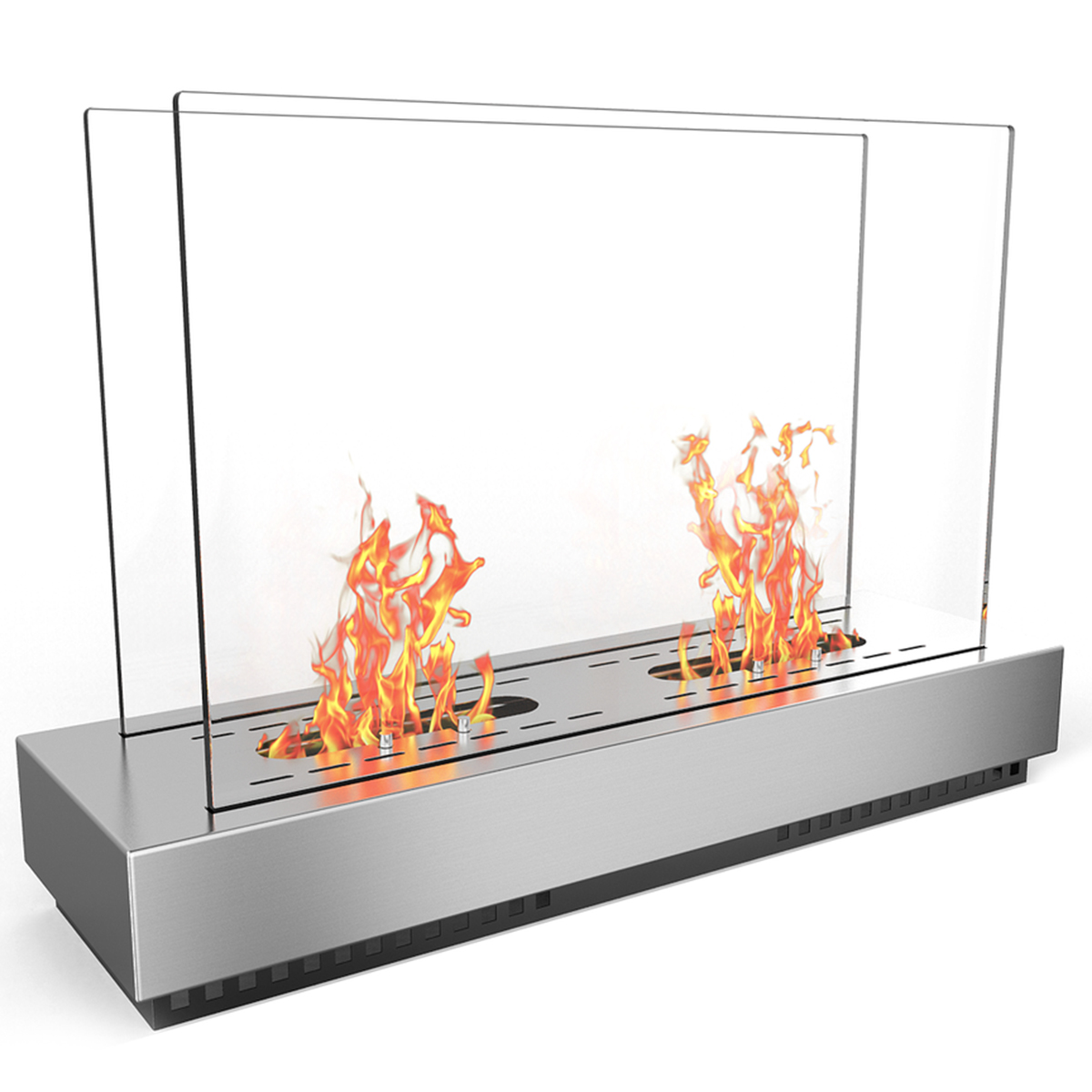 Regal Flame Delano Ventless Free Standing Bio Ethanol Fireplace Can Be Used as a Indoor, Outdoor, Gas Log Inserts, Vent Free, El
