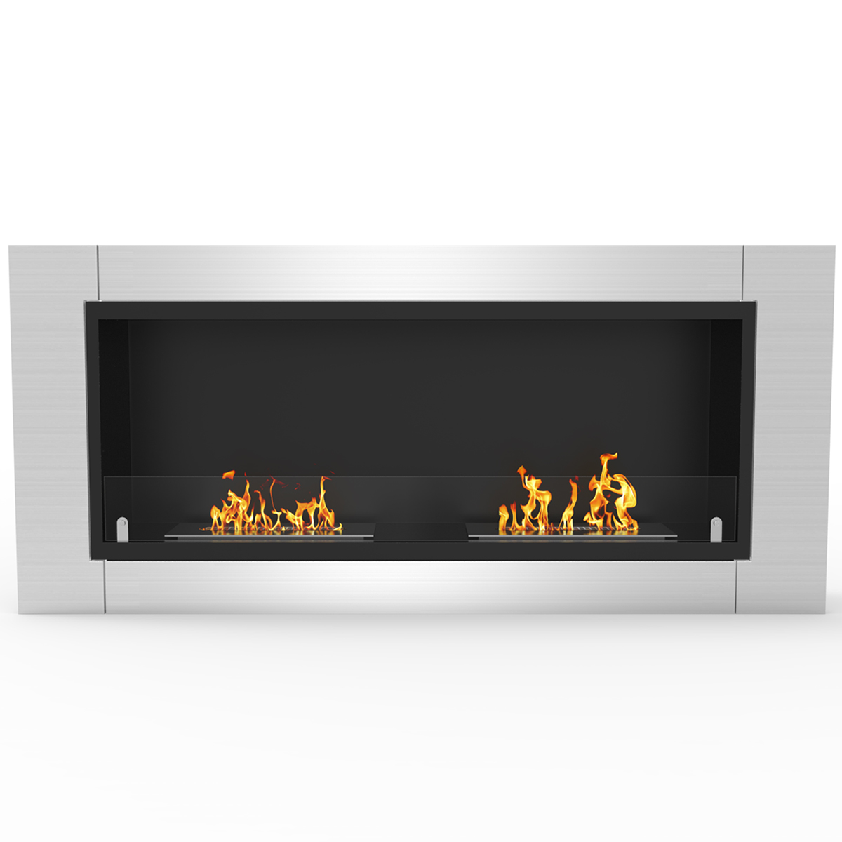 Regal Flame Stainless Steel Phoenix Ventless Free Standing Ethanol Fireplace Can Be Used as a Indoor, Outdoor, Gas Log Inserts,
