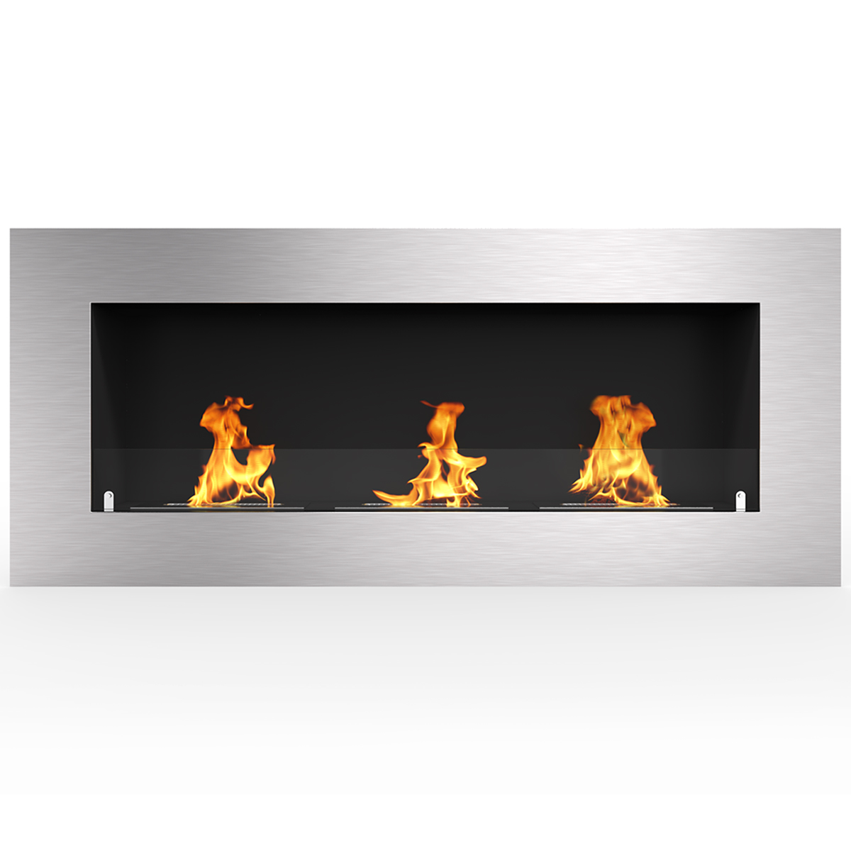 """Regal Flame Warren 42"""" PRO Ventless Built In Wall Recessed Bio Ethanol Wall Mounted Fireplace Similar Electric Fireplaces, Gas L"""