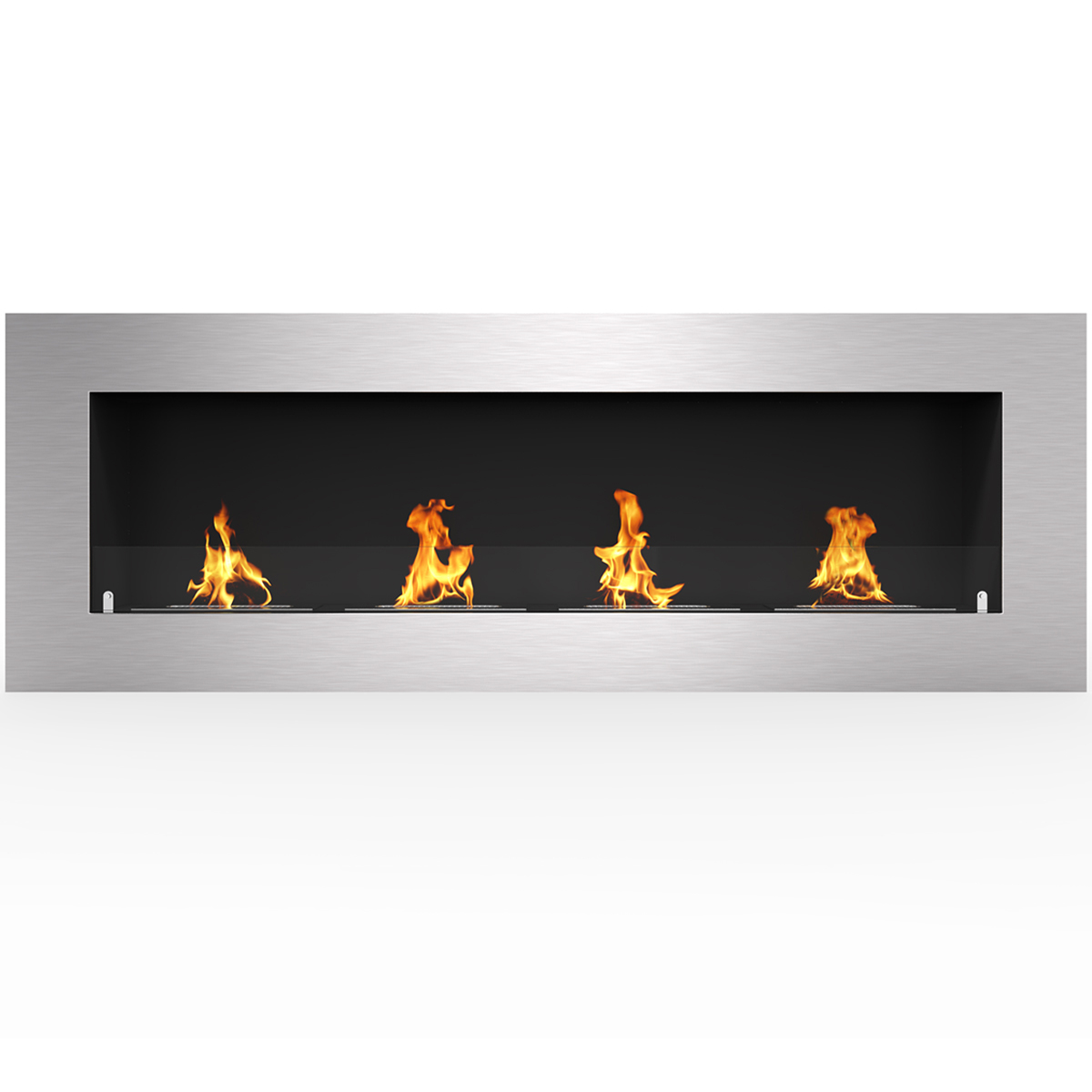 """Regal Flame Warren 50"""" PRO Ventless Built In Wall Recessed Bio Ethanol Wall Mounted Fireplace Similar Electric Fireplaces, Gas L"""