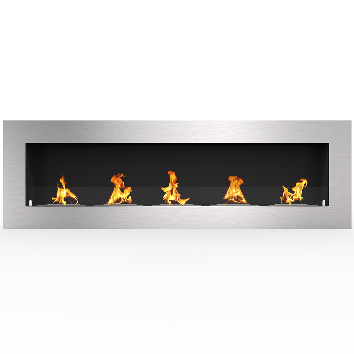 """Regal Flame Warren 60"""" PRO Ventless Built In Wall Recessed Bio Ethanol Wall Mounted Fireplace Similar Electric Fireplaces, Gas L"""