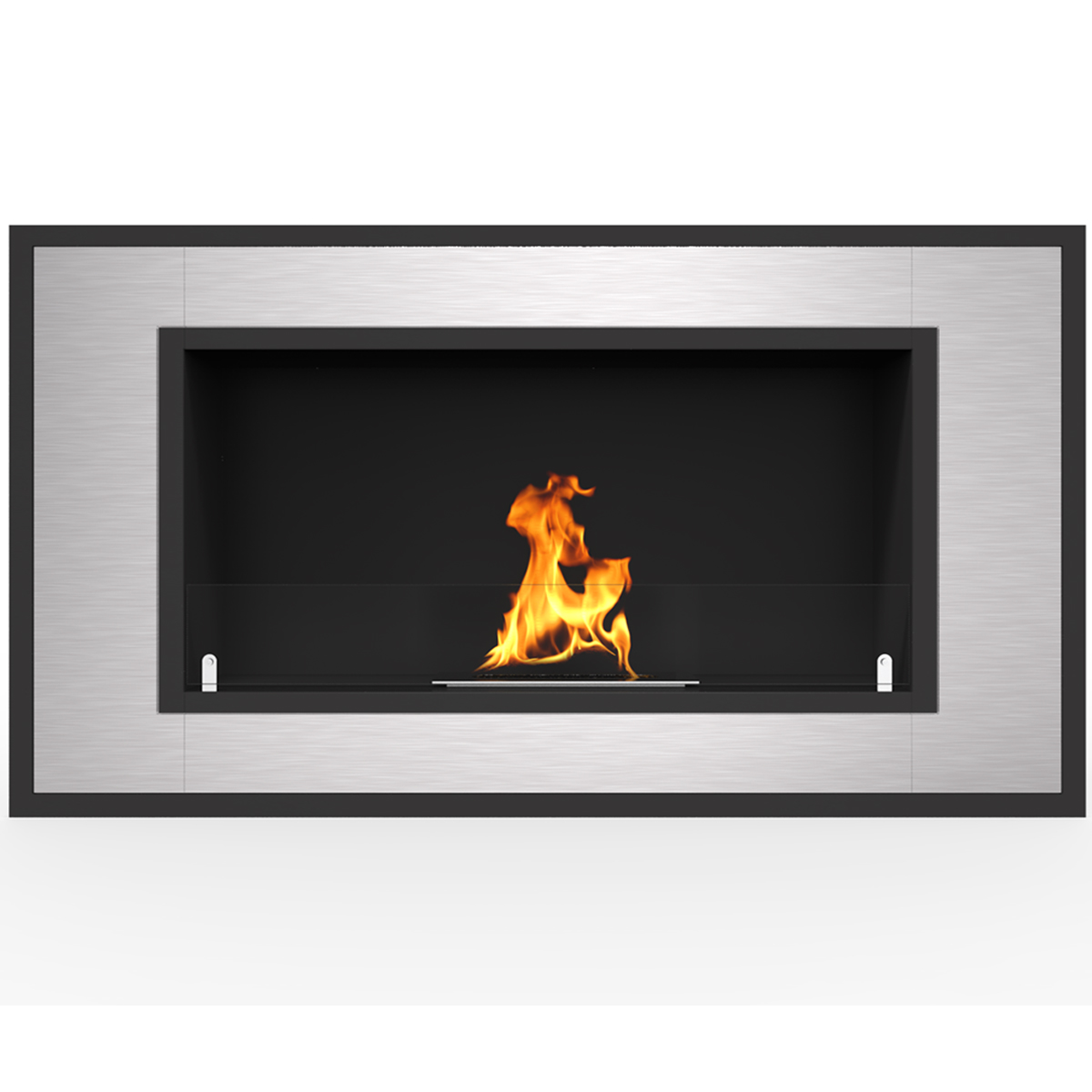 """Regal Flame Warren 72"""" PRO Ventless Built In Wall Recessed Bio Ethanol Wall Mounted Fireplace Similar Electric Fireplaces, Gas L"""