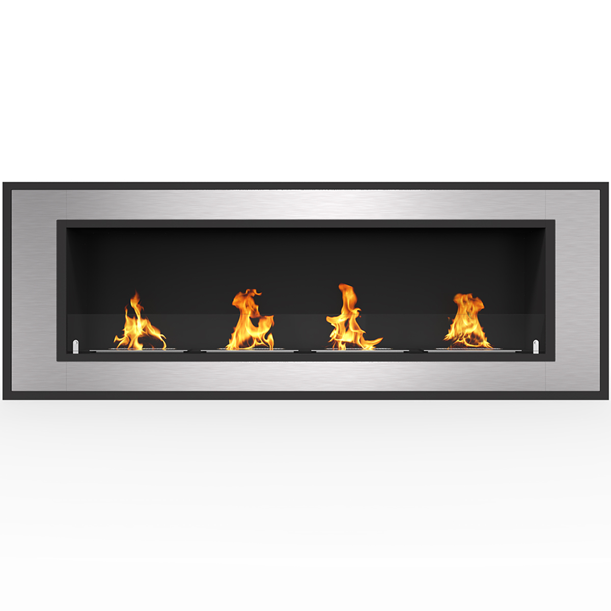 """Regal Flame Cynergy 50"""" Ventless Built In Wall Recessed Bio Ethanol Wall Mounted Fireplace Similar Electric Fireplaces, Gas Logs"""