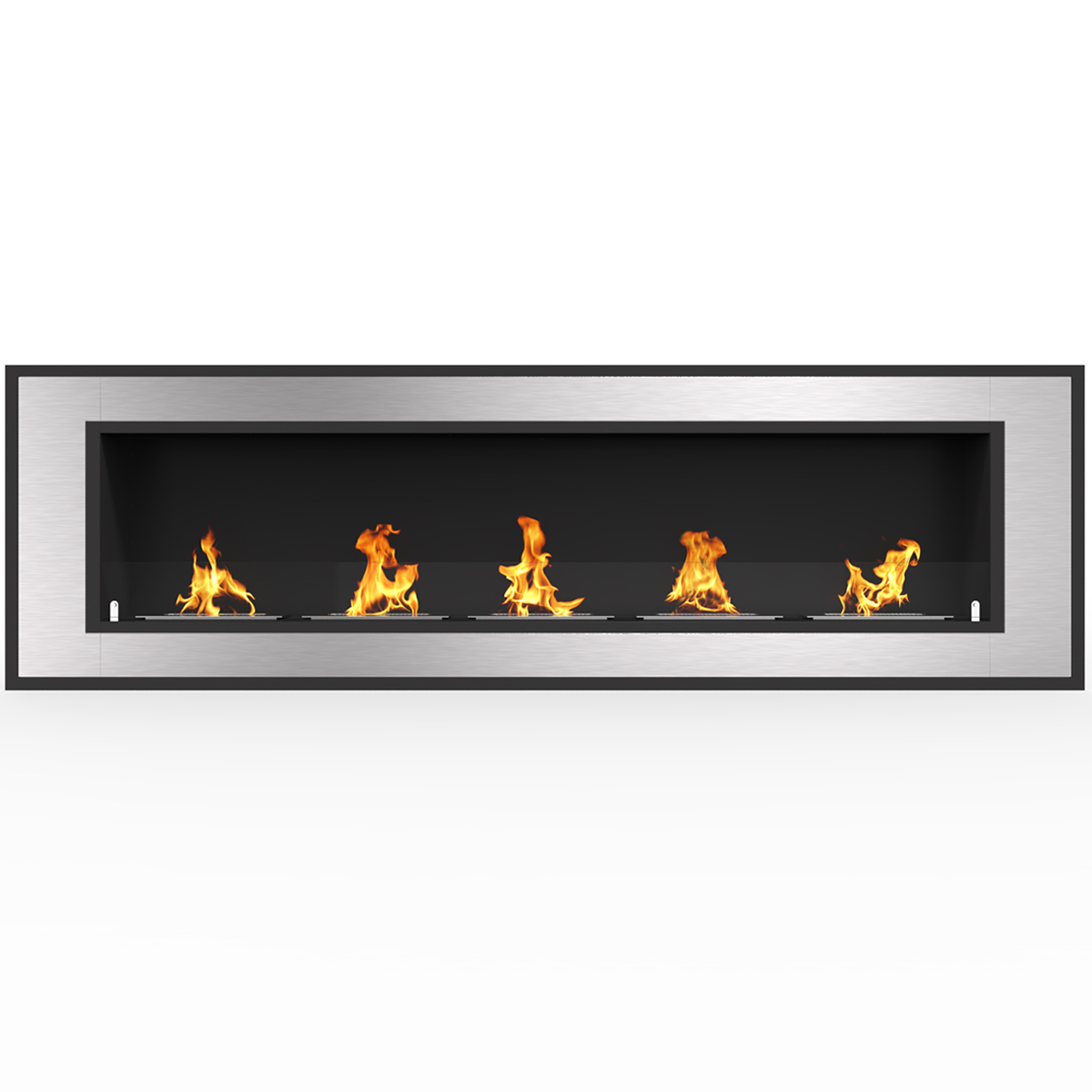 """Regal Flame Cynergy 60"""" Ventless Built In Wall Recessed Bio Ethanol Wall Mounted Fireplace Similar Electric Fireplaces, Gas Logs"""