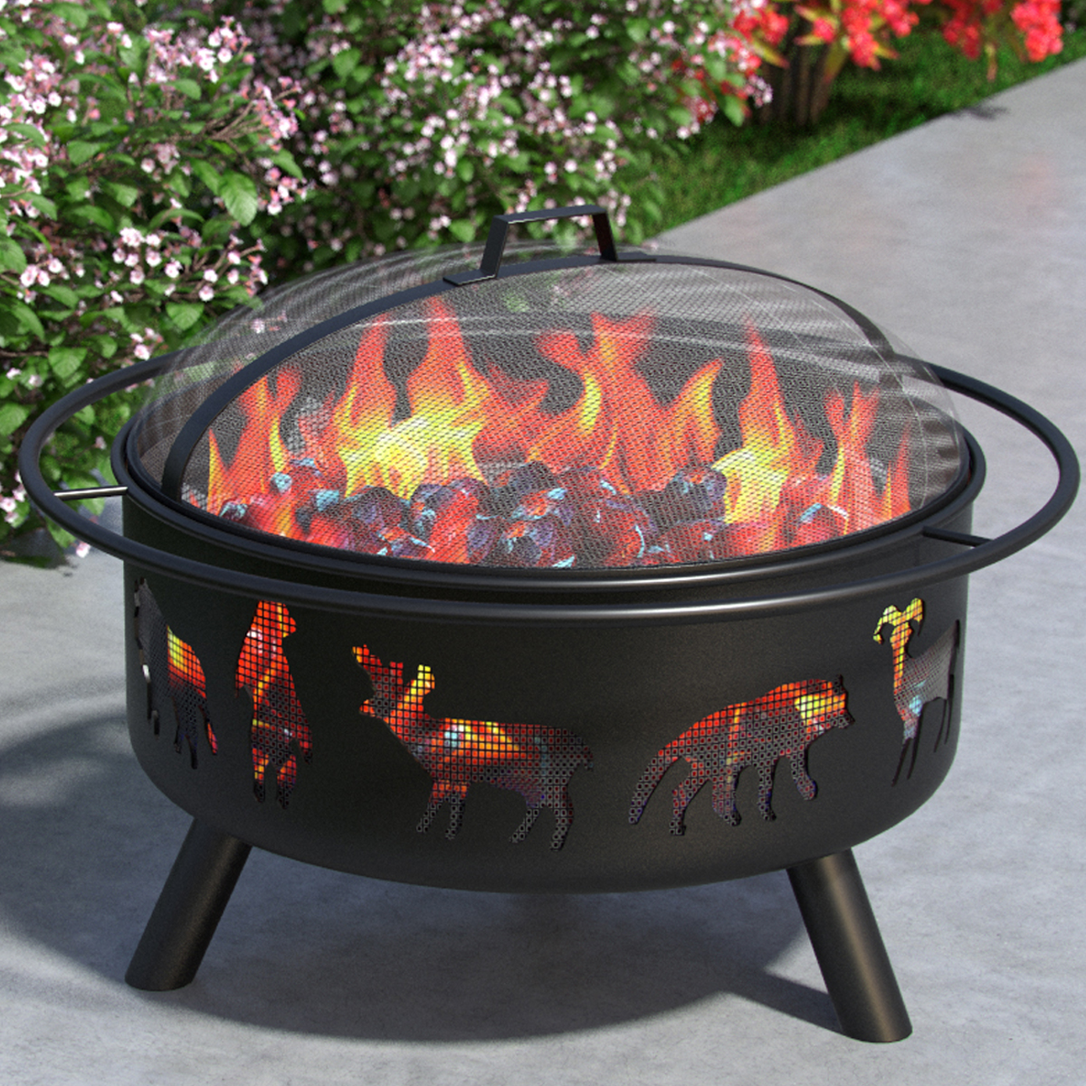 Regal Flame Solar 23� Portable Outdoor Fireplace Fire Pit Ring for Backyard Patio Fire, RV, Patio Heater, Stove, Camping, Bonfir