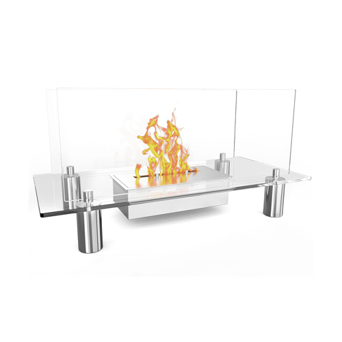 Moda Flame Delano Ventless Free Standing Bio Ethanol Fireplace Can Be Used as a Indoor, Outdoor, Gas Log Inserts, Vent Free, Ele