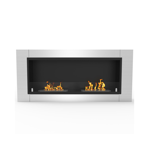 Moda Flame Valencia 43 Inch Ventless Built In Recessed Bio Ethanol Wall Mounted Fireplace