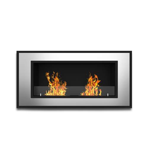 Moda Flame Lugo 47 Inch Ventless Built In Recessed Bio Ethanol Wall Mounted Fireplace