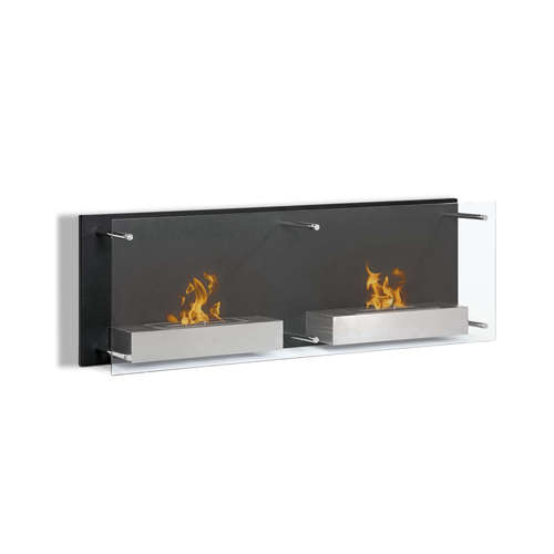 Moda Flame Faro 47 Inch Ventless Wall Mounted Bio Ethanol Fireplace