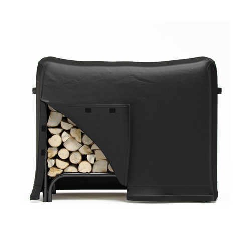 Gibson Living 4 Foot Black Water Resistant Firewood Log Rack Cover
