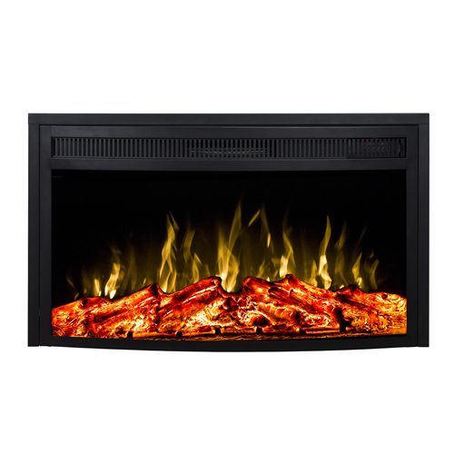 Moda Flame 23 Inch Curved Ventless Heater Electric Fireplace Insert