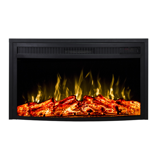 Moda Flame 26 Inch Curved Ventless Heater Electric Fireplace Insert