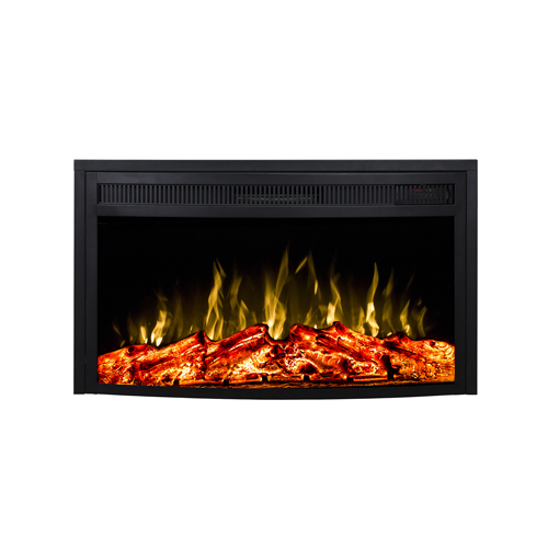 Gibson Living 33 Inch Curved Ventless Heater Electric Fireplace Insert