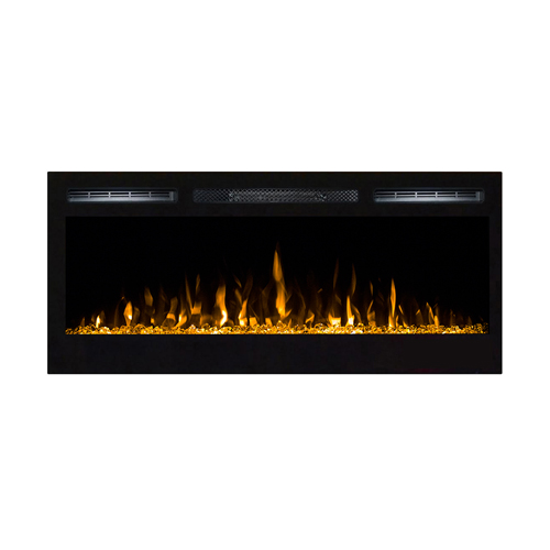 Gibson Living Bombay 36 Inch Crystal Recessed Touch Screen Multi-Color Wall Mounted Electric Fireplace