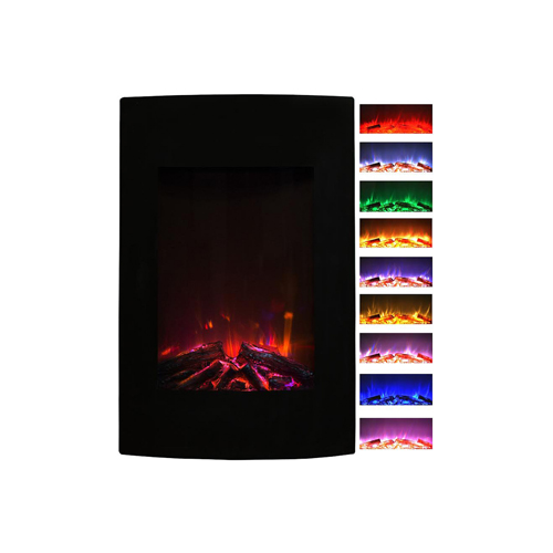 Gibson Living Alpine 23 Inch Ventless Heater Electric Wall Mounted Fireplace - Multi-Color