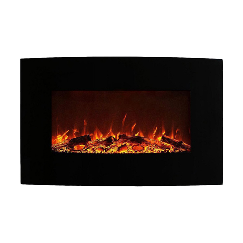 """Moda Flame Chelsea 35"""" Log Ventless Heater Electric Wall Mounted Fireplace Better than Wood Fireplaces, Gas Logs, Fireplace Inse"""