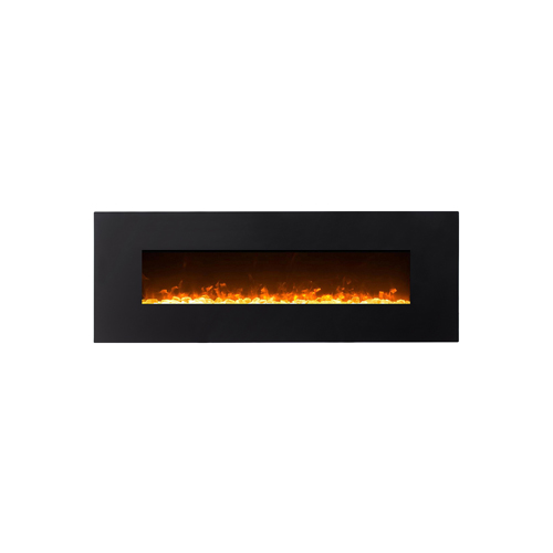 Gibson Living GL5072CE Empire 72 Inch Crystal Linear Wall Mounted Electric Fireplace