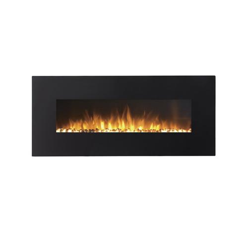 "Moda Flame MFE5072CE 72"" Skyline Linear Wall Mounted Electric Fireplace - Crystal"